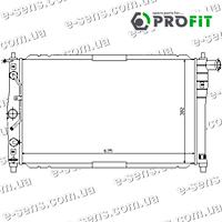 Радиатор охлаждения Ланос 1.5/1.6 с кондиц. PROFIT