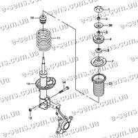Амортизатор передний Авео PARTS-MALL газо-масляный