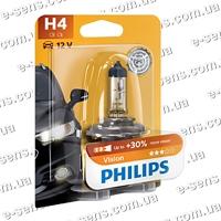 Лампа H4 PHILIPS Vision +30% блистер