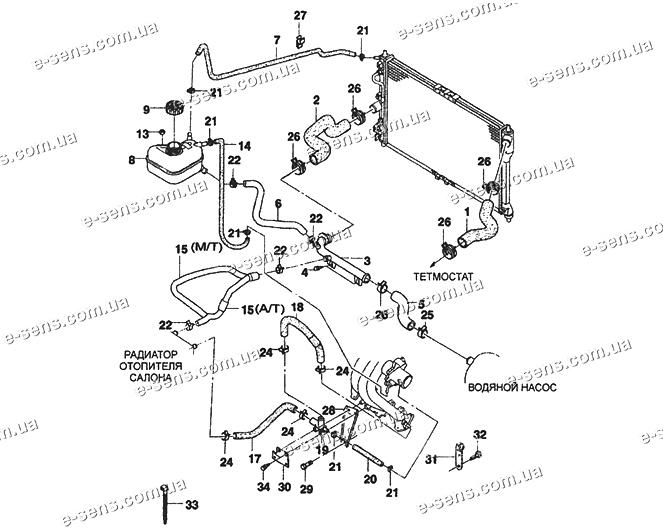 Система отопления ланос 1.5 схема фото 481